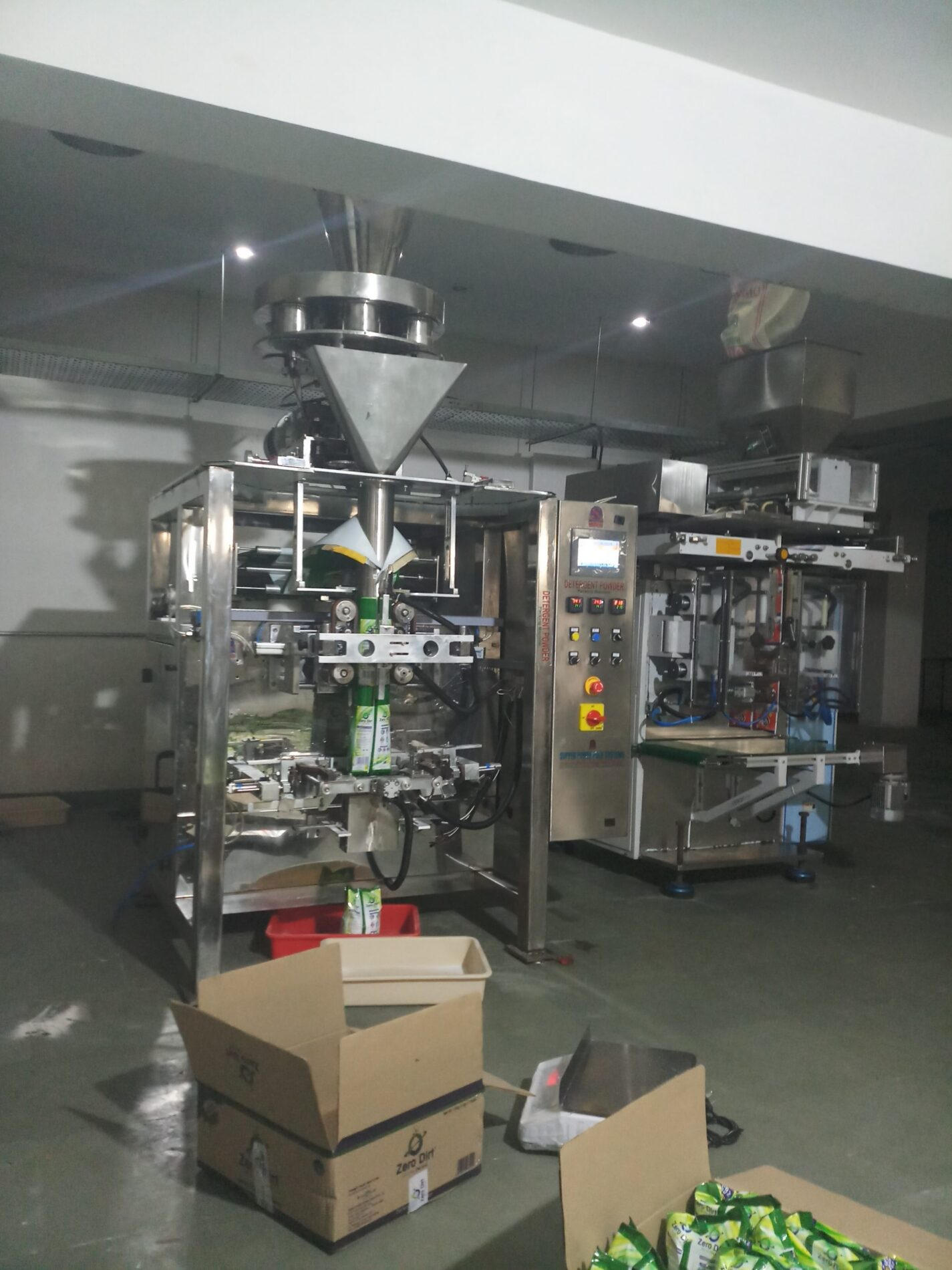 The snack packing machine in our possession is quite different different type, according to the customer's speed of output, we arrange the machine, the machine has 2 head electrical hooks, which weighing the product and doing Automatic