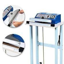 Foot sealing machine is operated by foot. According to material and thickness of packaging bags, there are two kinds of Foot sealing machine: Impulse Foot sealing machine and constant heat Foot sealing machine