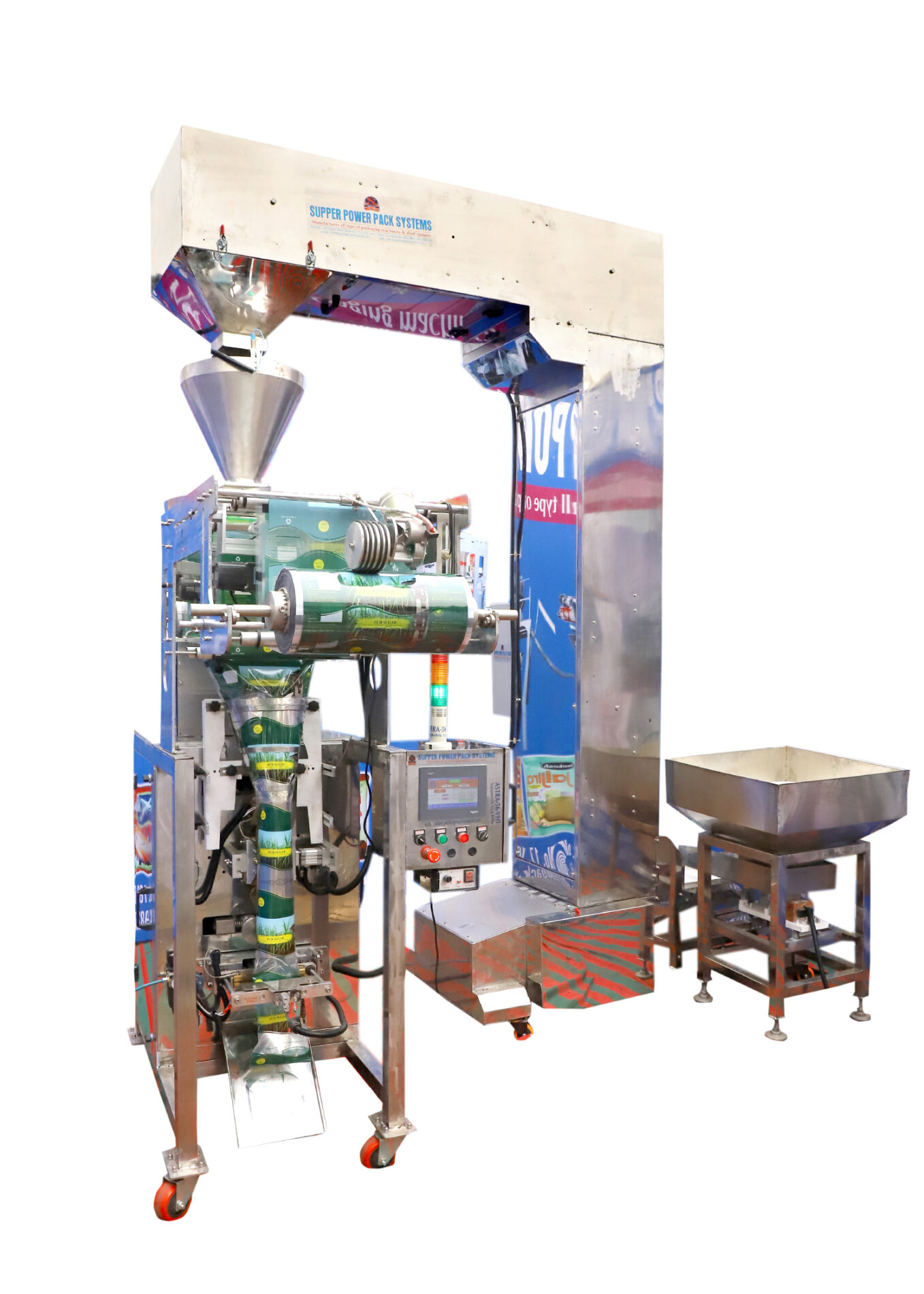 auto weighing filling and sealing machine